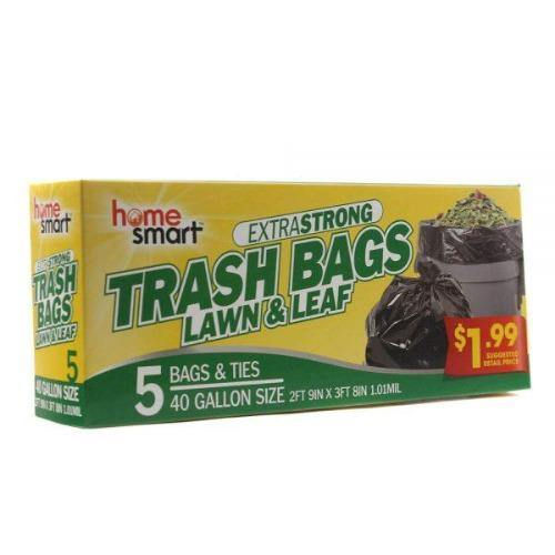 Home Smart 40 Gallon Lawn & Leaf Trash Bags - 5 ct - Darn Cheap Discounts