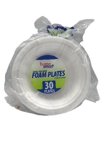 "Homesmart 7"" Foam Plates - 30 ct - Darn Cheap Discounts"