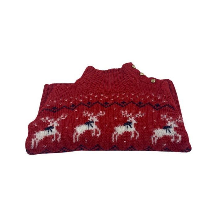 Janie and Jack Red Reindeer Sweater - Darn Cheap Discounts