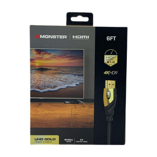 Monster 4k Hdr Ultra Hd Gold 60hz 6ft Hdmi Cable - Premium Hdmi - Darn Cheap Discounts