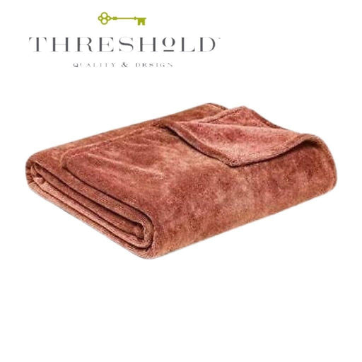 Threshold Fuzzy Throw Blanket - Gold - 50in x 70in - Darn Cheap Discounts