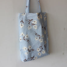 Load image into Gallery viewer, Flower Print Canvas Tote Satchel