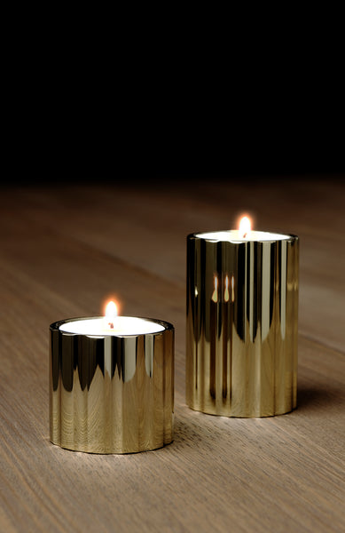 DUAL candle holder tall - gold