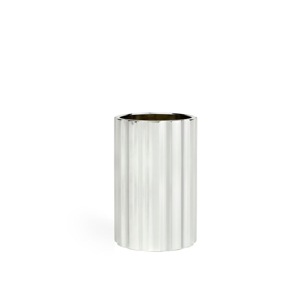 DUAL candle holder tall - silver