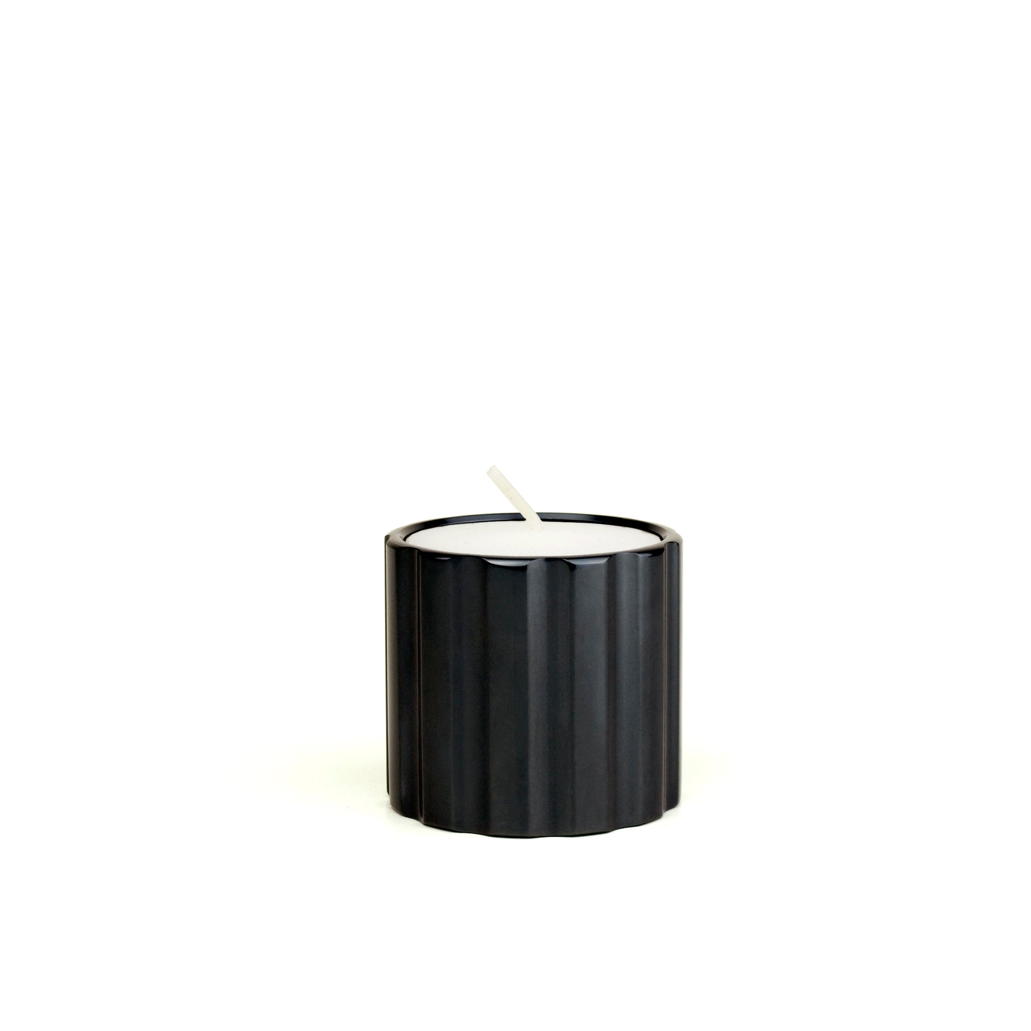 DUAL candle holder low - gunmetal