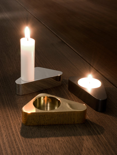 FLIP double sided candle holder - gold
