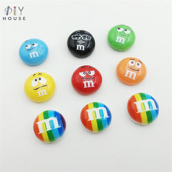 10/20/30Pcs Rainbow Chocolate Candy M Beans Flatback Planar Resin Color DIY Craft Basteln Phone Shell Decor Accessories Material