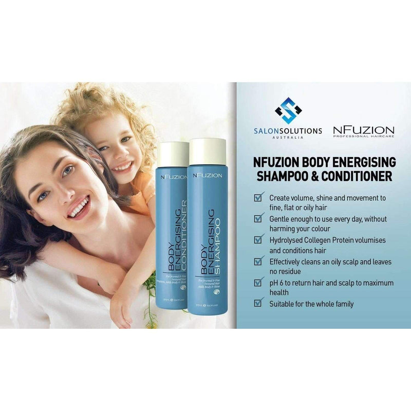 NFuzion Professional Body Energising Shampoo 375ml,Salon Supplies To Your Door