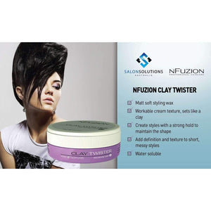 NFuzion Professional Clay Twister 100gm,Salon Supplies To Your Door