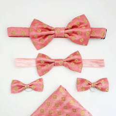 Bespoke Daddy and Me Set - Matching Bow Tie, Pocket Square, Headband and Shoe bows