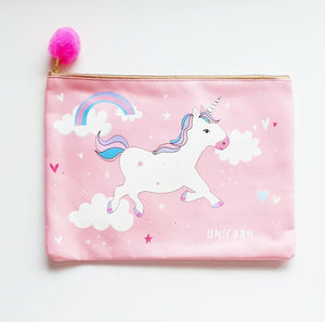 Kids Be Yourself or A Unicorn Large Pouch Bag
