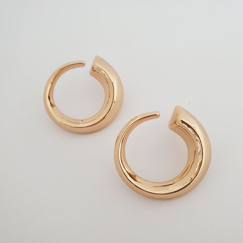 Gold Plated Swirl Earrings
