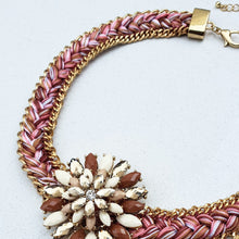 Load image into Gallery viewer, Dahlia Jewelled and Embroidered Necklace