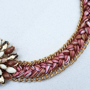 Dahlia Jewelled and Embroidered Necklace