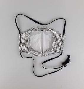 Deaf Friendly Lip Reading Face Mask with Adjustable Toggle Strap