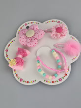 Load image into Gallery viewer, Kids Flower and Bow Hair Clips with Bracelets III