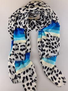 Stripe it Lucky Blue Multiway Scarf
