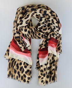 Stripe it Lucky Red Multiway Scarf