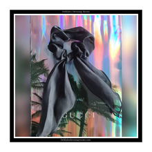 Load image into Gallery viewer, Black Multiway Sheer Organza Scarf Bow Scrunchie