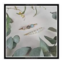Load image into Gallery viewer, Gold, Pearl and Gem Duo Hair Slide Set