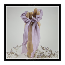Load image into Gallery viewer, Lilac Multiway Sheer Organza Scarf Bow Scrunchie