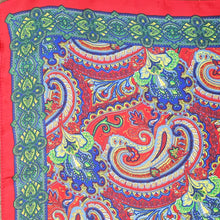 Load image into Gallery viewer, Paisley Printed Silk Scarf - Red
