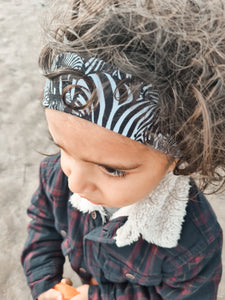 Set of 4 Boys in the Wood Headbands - Zebra Mix