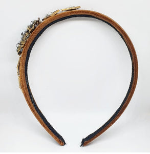 Bronze + Pearl Embellished Headband