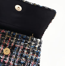 Load image into Gallery viewer, Pearl + Multi Tweed Tote Bag