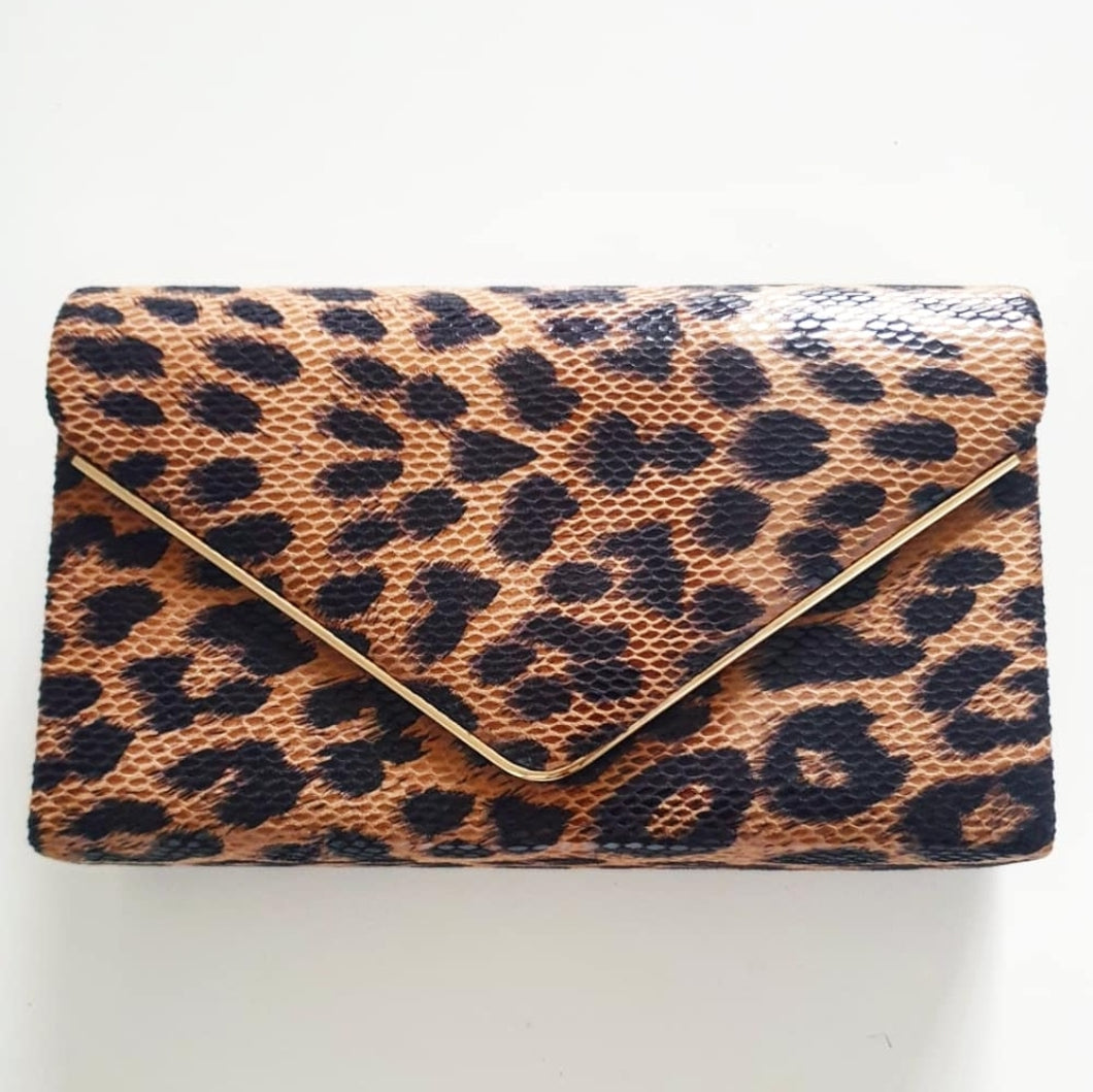 Leopard Envelope Bag