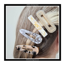 Load image into Gallery viewer, Acetate Contrast Duo Hair Clip Set