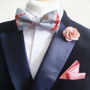 Coy Carp Grey Pre Tied Adjustable Bow Tie