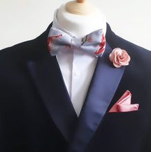 Load image into Gallery viewer, Coy Carp Grey Pre Tied Adjustable Bow Tie