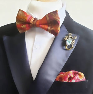 Sunset Silk Pre Tied Adjustable Bow Tie