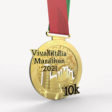Laden Sie das Bild in den Galerie-Viewer, virtueller lauf virtual run marathon medaille Viva l'Italia