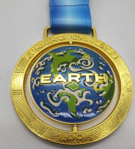 virtueller lauf virtual run marathon medaille Planet Erde