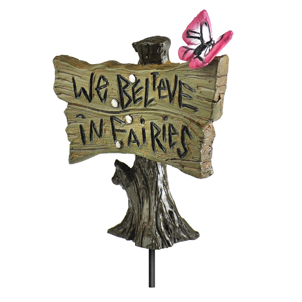 Butterfly Fairy Sign Pick