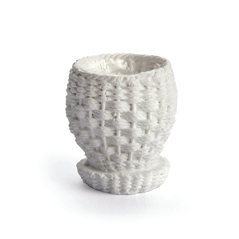 Wicker Planter, White
