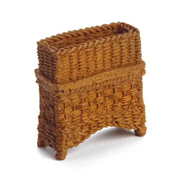 Wicker Plant Stand, Brown