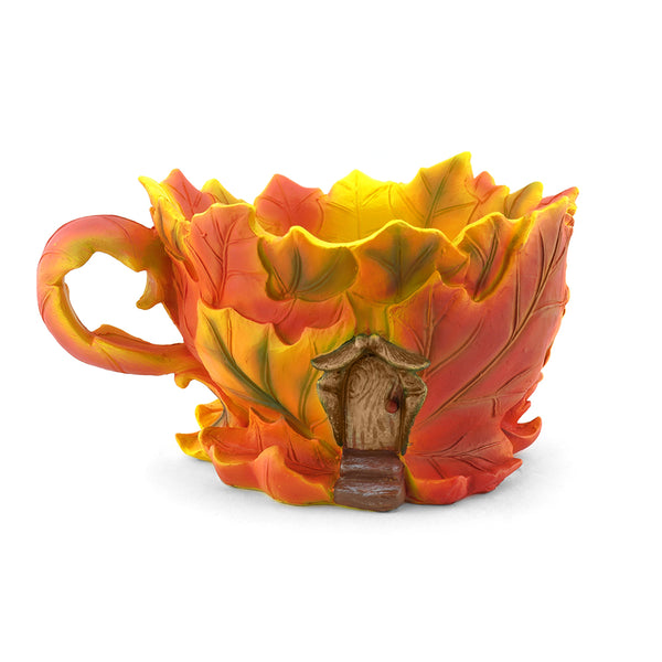 Maple Leaf House Tea Cup Planter