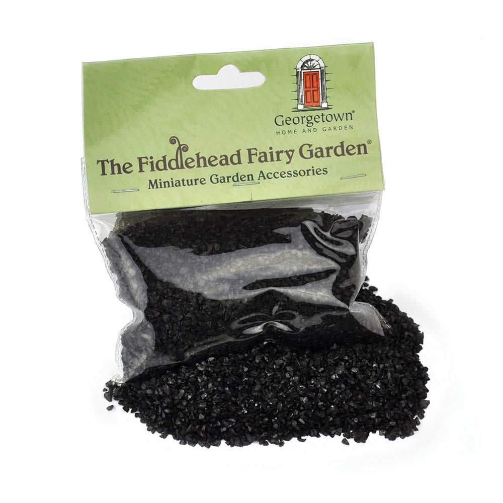 Black Glass Gravel, 8 oz.