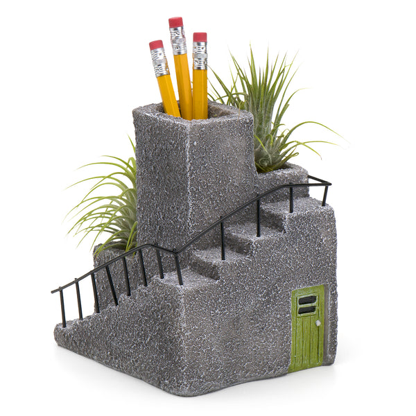 Adobe Desktop Planter & Pen Holder, Green