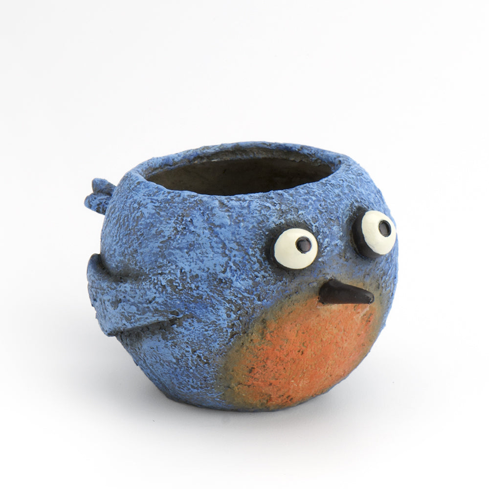 Happy Blue Bird Planter