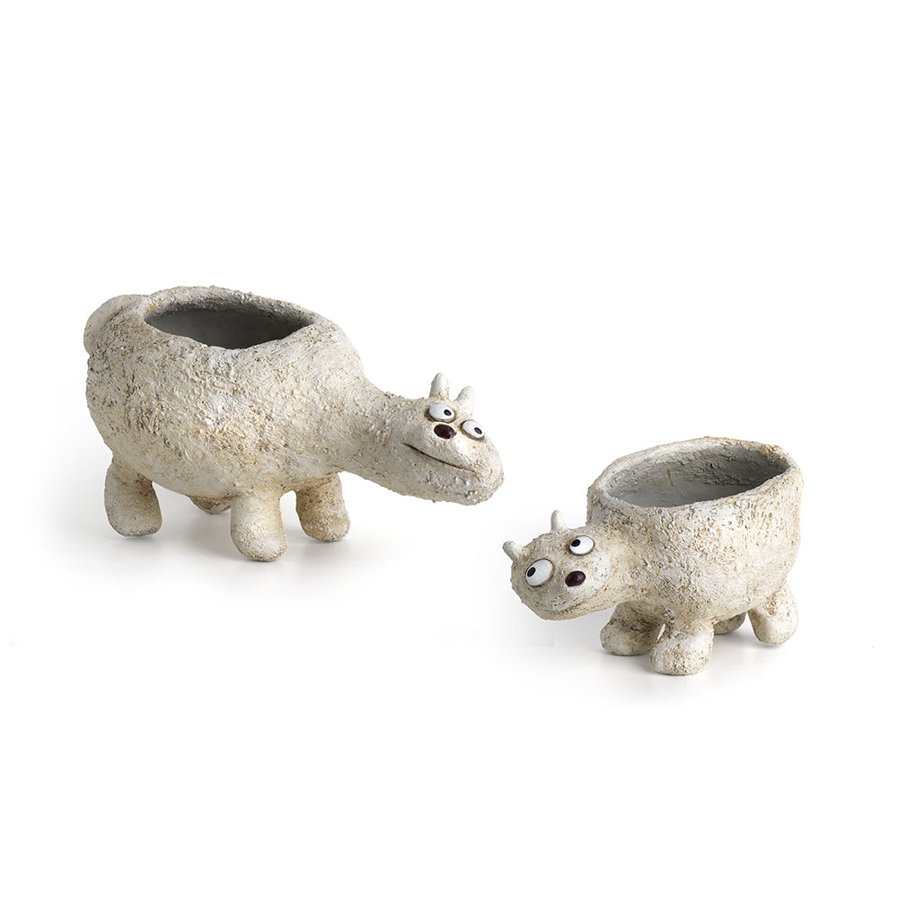 Mom 'n Me Polar Bear Planters (Set of 2)