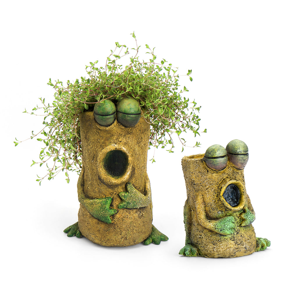 Singing Frog Mom & Baby Planters (Set of 2)