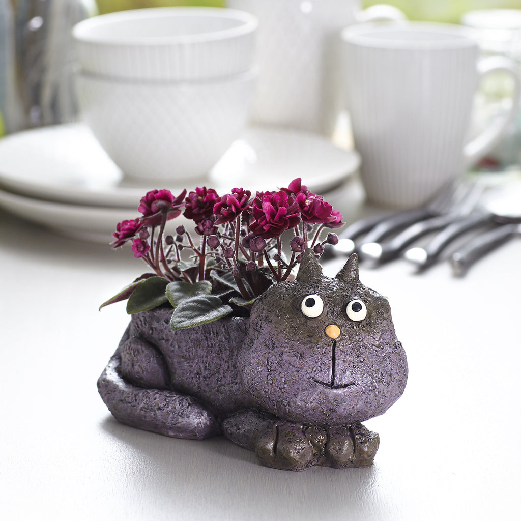 Violet the Cat Planter