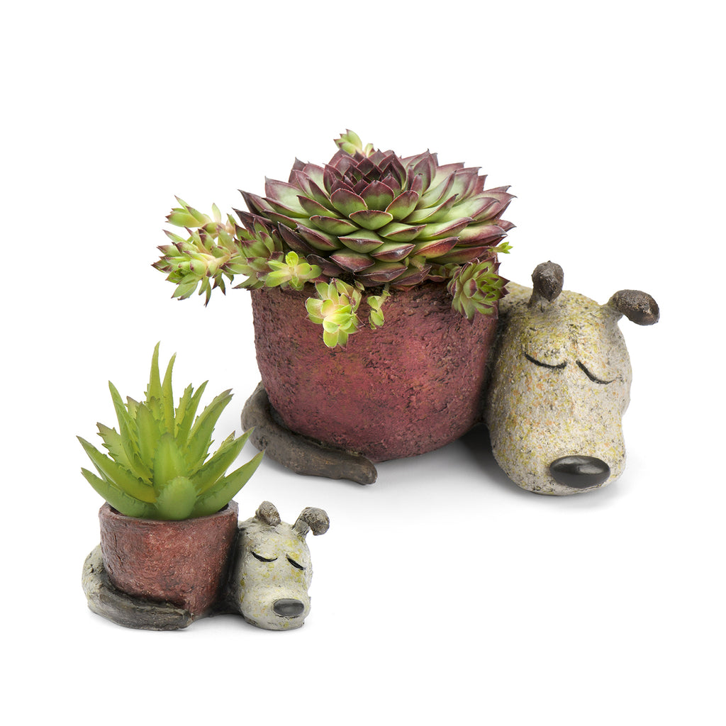 Dreaming Dogs Mom & Baby Planters (Set of 2)