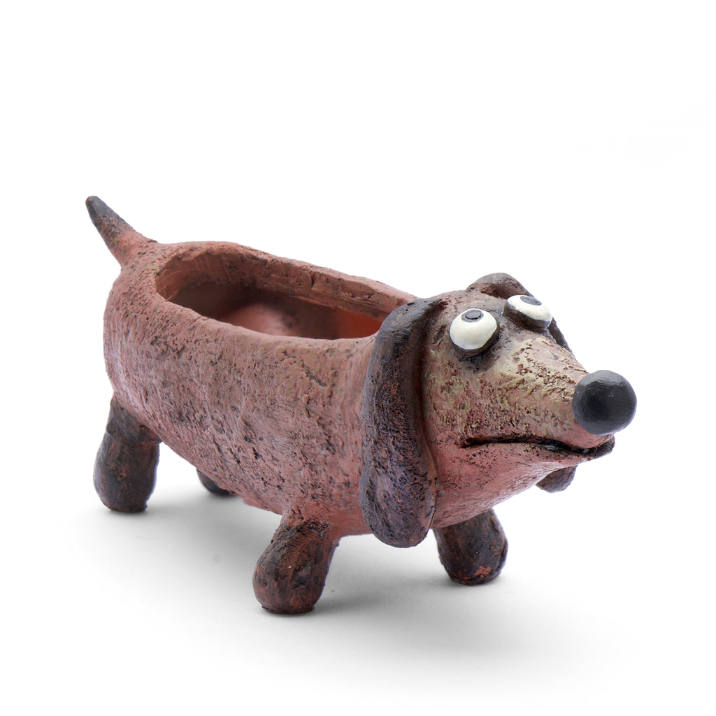 Baby Doxie the Dog Planter