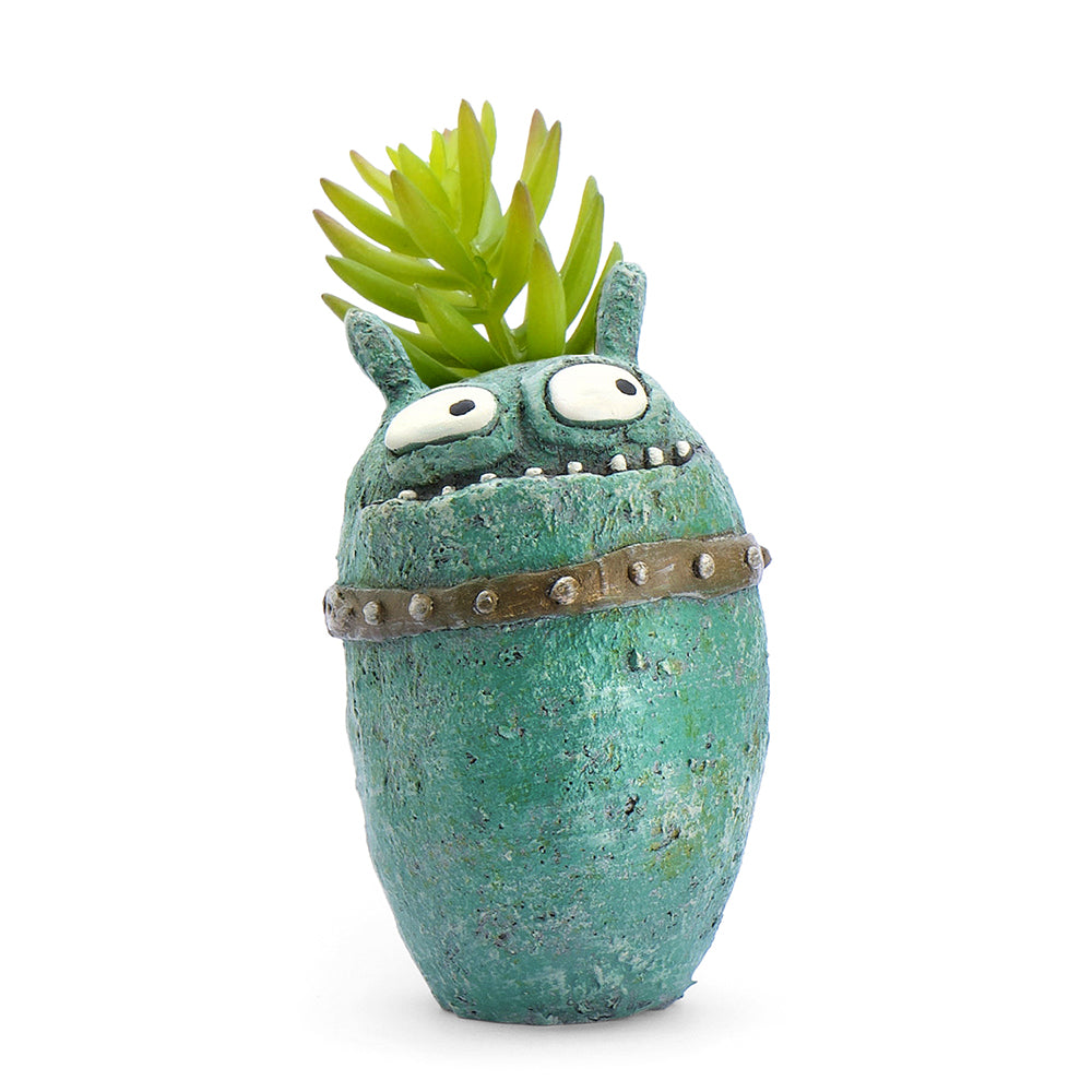 Sparta the Monster Bloomies Planter, Teal