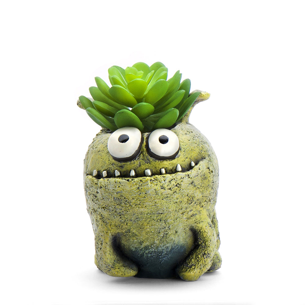 Orbit the Monster Bloomies Planter, Green
